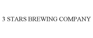 mark for 3 STARS BREWING COMPANY, trademark #85183437