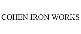 mark for COHEN IRON WORKS, trademark #85186405