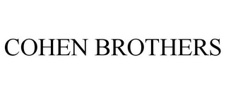 mark for COHEN BROTHERS, trademark #85186410