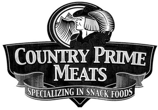 mark for COUNTRY PRIME MEATS SPECIALIZING IN SNACK FOODS, trademark #85186446