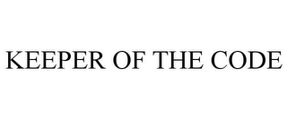 mark for KEEPER OF THE CODE, trademark #85187063