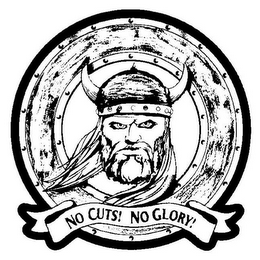 mark for NO CUTS! NO GLORY!, trademark #85187207