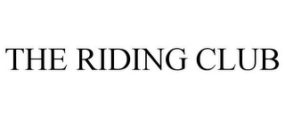 mark for THE RIDING CLUB, trademark #85187975