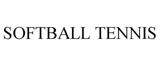 mark for SOFTBALL TENNIS, trademark #85188253