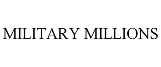 mark for MILITARY MILLIONS, trademark #85188346