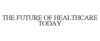 mark for THE FUTURE OF HEALTHCARE TODAY, trademark #85192504