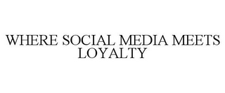 mark for WHERE SOCIAL MEDIA MEETS LOYALTY, trademark #85194415