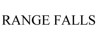 mark for RANGE FALLS, trademark #85199244