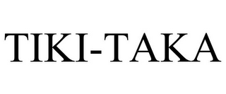 mark for TIKI-TAKA, trademark #85201193