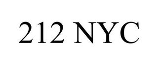 mark for 212 NYC, trademark #85203861