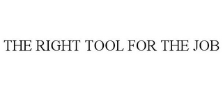 mark for THE RIGHT TOOL FOR THE JOB, trademark #85205633