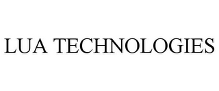mark for LUA TECHNOLOGIES, trademark #85205853