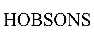 mark for HOBSONS, trademark #85207594