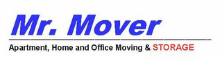 mark for MR. MOVER APARTMENT, HOME AND OFFICE MOVING & STORAGE, trademark #85210174