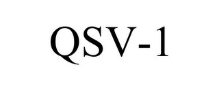 mark for QSV-1, trademark #85212030