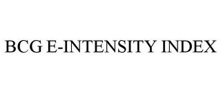 mark for BCG E-INTENSITY INDEX, trademark #85212812