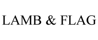 mark for LAMB & FLAG, trademark #85214430