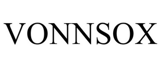 mark for VONNSOX, trademark #85215406