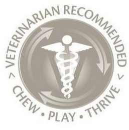 mark for VETERINARIAN RECOMMENDED CHEW PLAY THRIVE, trademark #85219535