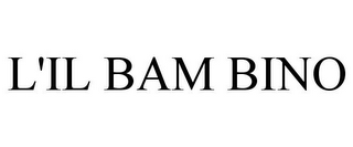 mark for L'IL BAM BINO, trademark #85221892