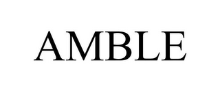 mark for AMBLE, trademark #85223085