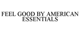 mark for FEEL GOOD BY AMERICAN ESSENTIALS, trademark #85223157
