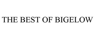 mark for THE BEST OF BIGELOW, trademark #85223969