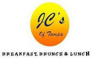mark for JC'S OF TAMPA BREAKFAST, BRUNCH & LUNCH, trademark #85225332