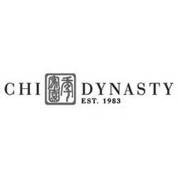 mark for CHI DYNASTY EST. 1983, trademark #85225856