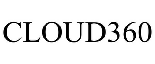 mark for CLOUD360, trademark #85227980