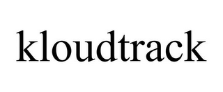 mark for KLOUDTRACK, trademark #85228665