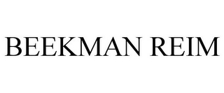 mark for BEEKMAN REIM, trademark #85230589