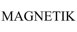 mark for MAGNETIK, trademark #85233237