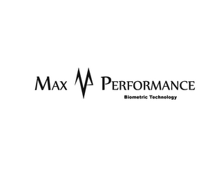 mark for MP MAX PERFORMANCE BIOMETRIC TECHNOLOGY, trademark #85238761