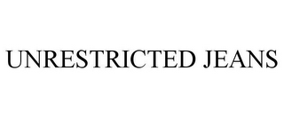 mark for UNRESTRICTED JEANS, trademark #85239190