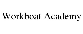 mark for WORKBOAT ACADEMY, trademark #85240032