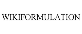 mark for WIKIFORMULATION, trademark #85240485