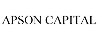 mark for APSON CAPITAL, trademark #85242288