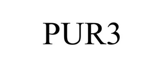 mark for PUR3, trademark #85242371