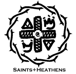 mark for SAINTS+HEATHENS, trademark #85252689