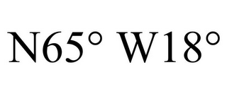 mark for N65° W18°, trademark #85253618