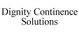 mark for DIGNITY CONTINENCE SOLUTIONS, trademark #85256047