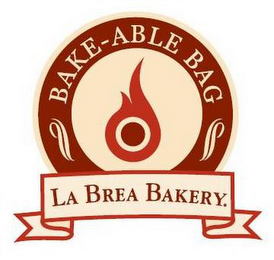 mark for BAKE-ABLE BAG LA BREA BAKERY., trademark #85256338