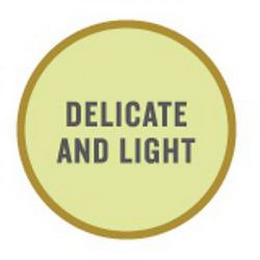 mark for DELICATE AND LIGHT, trademark #85256856