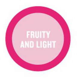 mark for FRUITY AND LIGHT, trademark #85256862