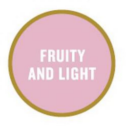 mark for FRUITY AND LIGHT, trademark #85257008