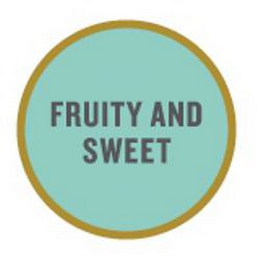 mark for FRUITY AND SWEET, trademark #85257319