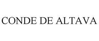 mark for CONDE DE ALTAVA, trademark #85258146
