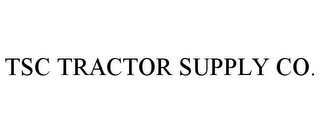 mark for TSC TRACTOR SUPPLY CO., trademark #85259332