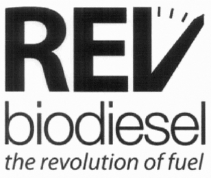 mark for REV BIODIESEL THE REVOLUTION OF FUEL, trademark #85260077